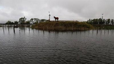 En General Villegas, ya son r�cord las lluvias de octubre